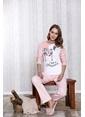 Lingabooms My Little Pretty Cat Baskılı Kadın 2'li Pijama Takım  Pembe